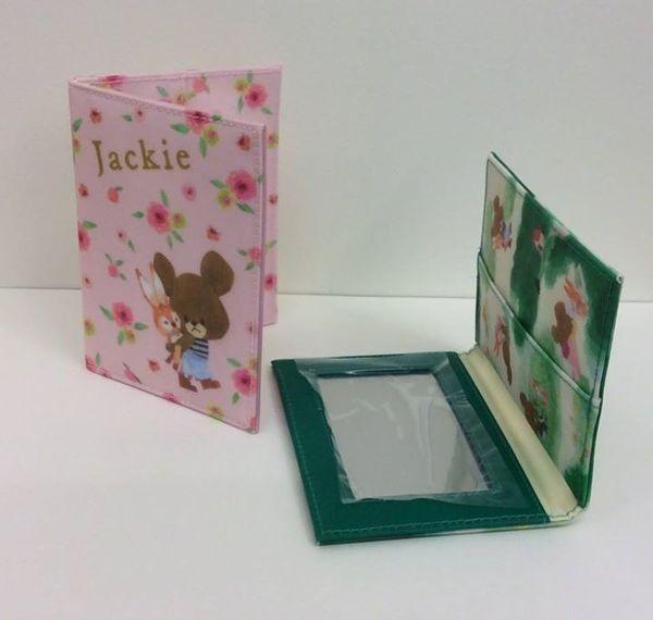 [日本雜貨] 小熊學校 隨身鏡 面紙卡片夾