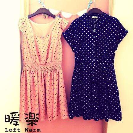 [日本雜貨] 裙襬搖搖 日系洋裝