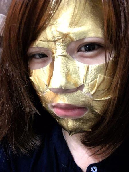 【保養】AMOY STAR泰星-金箔超導乳霜面膜|真的往臉上貼金
