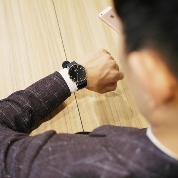 DW錶藍色錶帶
