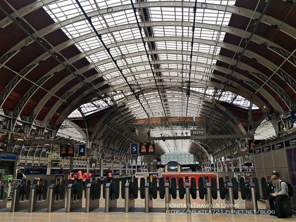 [倫敦˙啟程]希斯洛機場搭Heathrow Express進入倫敦市區(Paddington Station帕丁頓/柏靈頓站)