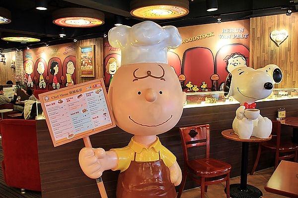 [香港]尖沙嘴百樂酒店對面,史努比陪你喝咖啡的查理布朗咖啡專門店