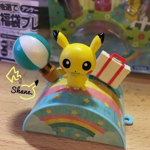 神奇寶貝 最萌的 皮卡丘 Pikachu 勸敗【開箱文】Pitapoke 吸盤系列玩具 旅行篇