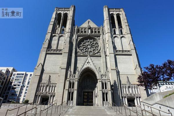 【美西舊金山景點】慈恩堂 Grace Cathedral:哥德復興式建築,美麗神聖天主教堂,諾布山恩典座堂,市區漫步景點分享