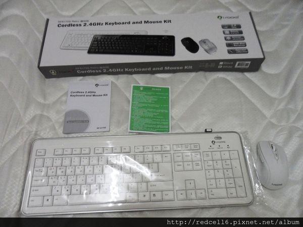 經典造型~無線好便利艾芮克 i-rocks RF6170S 無線2.4GHz鍵盤滑鼠組開箱體驗心得