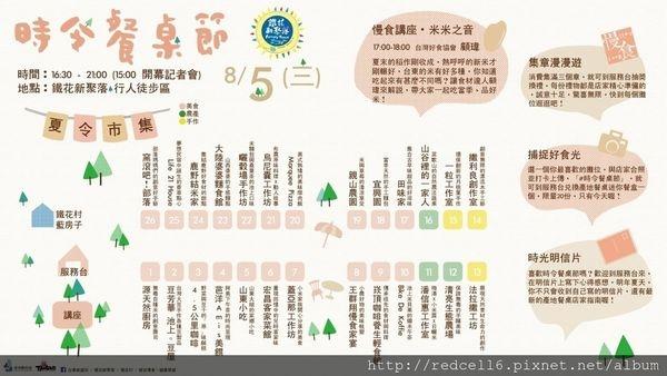 08/05台東鐵花新聚落「時令餐桌節」熱烈登場!歡迎一起來參加!