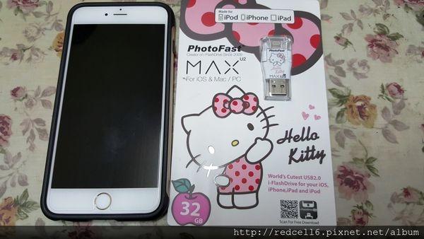 小巧可愛讓人愛不釋手的PhotoFast Hello Kitty MAX蘋果專用隨身碟32GB開箱體驗心得