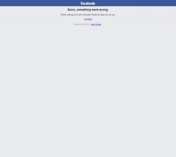 FB臉書突然無預警掛點..........你會