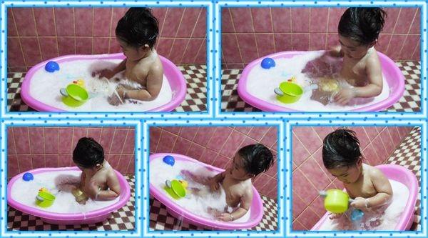 愛洗澡的小孩~泡泡浴~