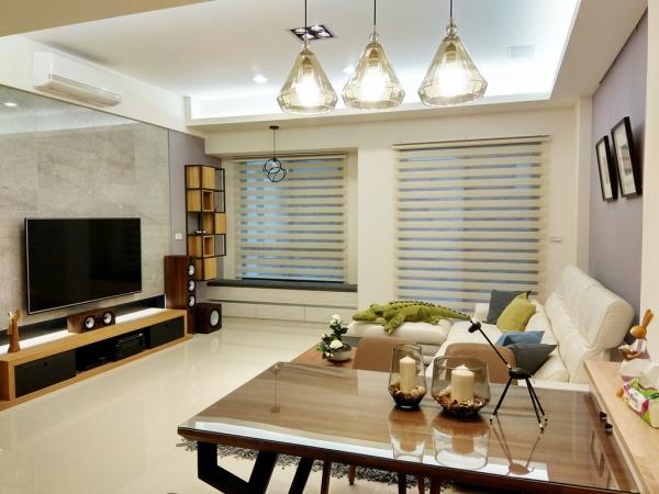 【台南窗簾店推薦】//美簾工坊 窗簾.木地板.壁紙// 雙層窗簾.調光簾,妝點出不同的風格!
