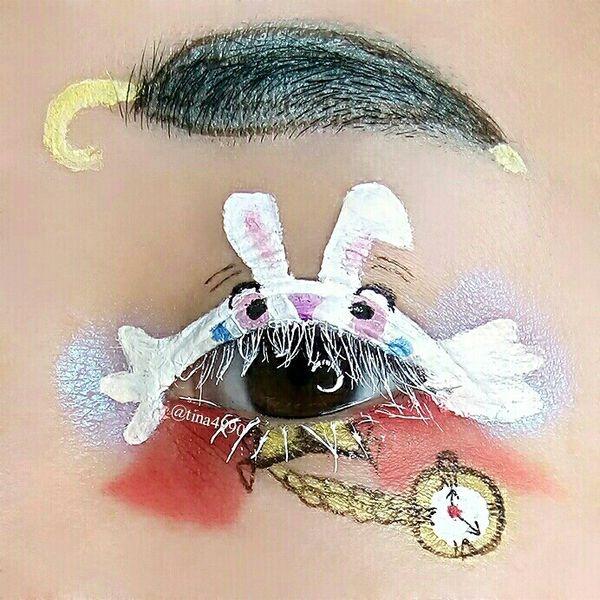掉入時間的幻境-愛麗絲夢遊仙境7個角色眼妝(上)妙妙貓、瘋帽、紅心皇后、時間兔