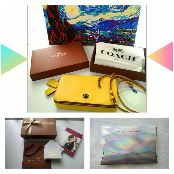 開箱|COACH Dinky Bag|一抹春夏的艷陽黃|凱特王粉絲回文禮開箱