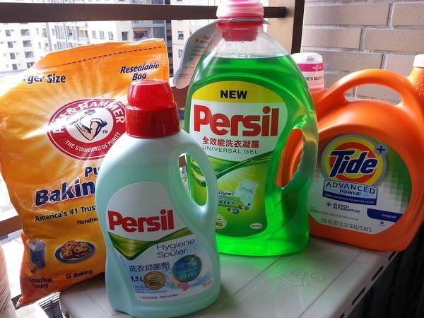 貓奴的洗衣日常 persil全效能洗衣凝露 Persil洗衣抑菌劑 Tide汰漬2X濃縮強效漂白護色洗衣精