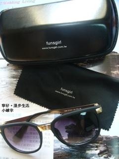 【配件】funsgirl芳子時尚-歐美簡約典雅條紋配色尼龍錶+抗UV400鉚釘裝飾小臉漸層墨鏡太陽眼鏡