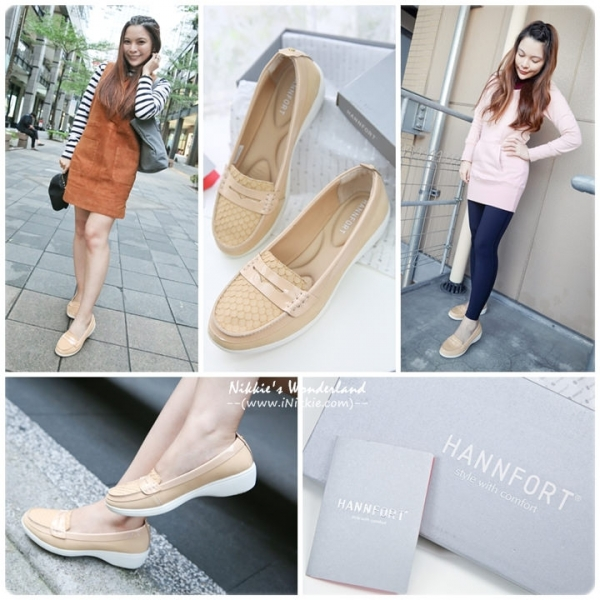 【。(美鞋) HANNFORT H-COMF 五密度鱗紋真皮氣墊樂福鞋~ 兼顧美型/舒適/好走的每日著用款!*】