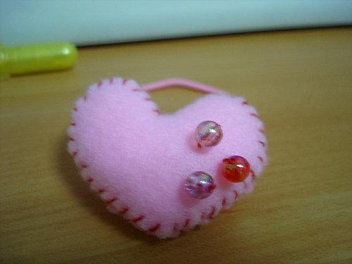 小婷手工成果--粉紅愛心髮束