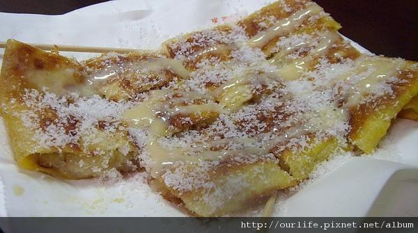台中.椰絲香蕉餅+涼拌冬粉@泰僑村小吃店