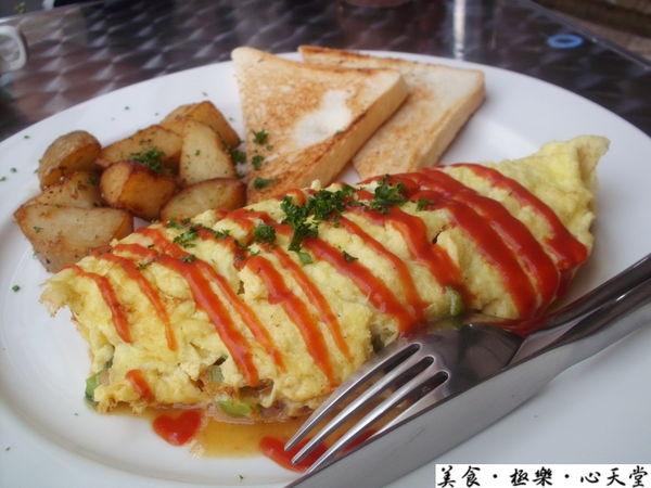 台中.吃到賺到的Omelette(美式蛋捲)@天堂早午餐(+wifi)