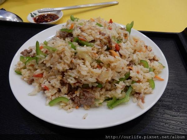 台中北區.夠味量足的青椒牛肉飯@上海顧家飯館