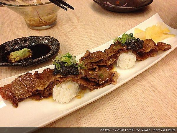 台中.悔不多吃的松露和牛炙燒壽司@月水壽司