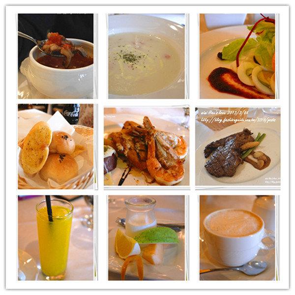 台南。快樂小館牛排西餐廳-快樂大牛排+歐式海鮮盤(冰島鱈魚 ...