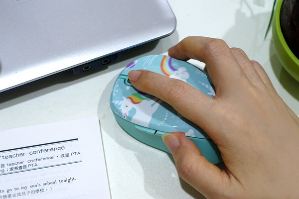 好用無線滑鼠推薦-LEXMA M300R無線光學滑鼠Q版彩虹獨角獸彩繪 (20).jpg
