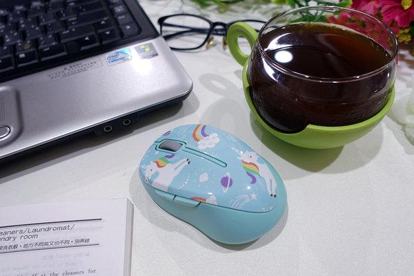 好用無線滑鼠推薦-LEXMA M300R無線光學滑鼠Q版彩虹獨角獸彩繪 (1).jpg