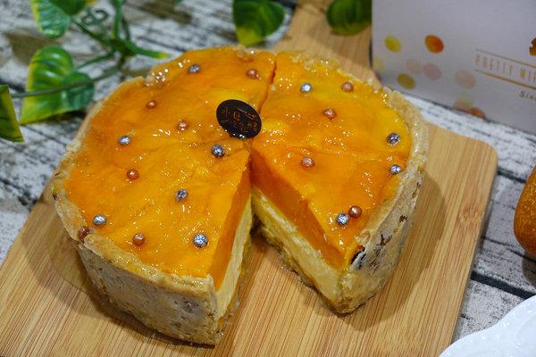 水母吃乳酪芒果乳酪塔,夏日限定好吃芒果甜點 (15).jpg
