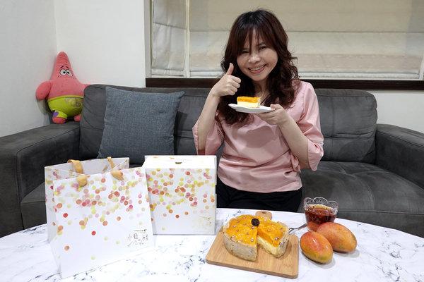 水母吃乳酪芒果乳酪塔,夏日限定好吃芒果甜點 (20).jpg