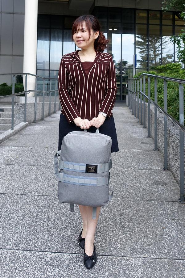 開箱-bagrun輕軍風三用機能後揹筆電包,上班族、輕旅行機能背包 (30).jpg