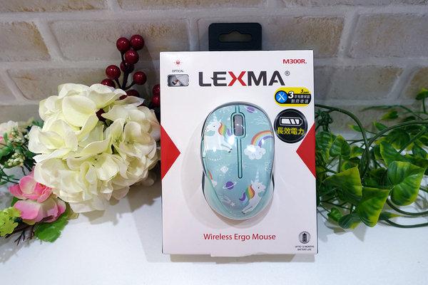 好用無線滑鼠推薦-LEXMA M300R無線光學滑鼠Q版彩虹獨角獸彩繪 (2).jpg