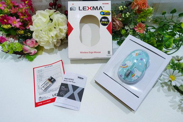 好用無線滑鼠推薦-LEXMA M300R無線光學滑鼠Q版彩虹獨角獸彩繪 (5).jpg