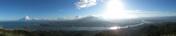全景照片 - 在硬漢嶺(觀音山)  拍  淡水 大屯山 台北市