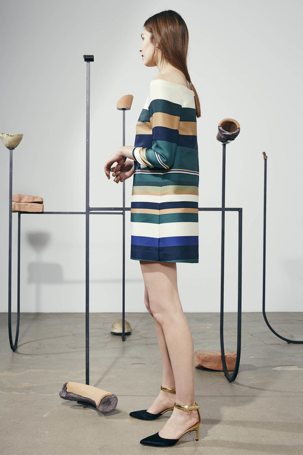 Rosetta Getty平肩條紋洋裝by團團_NT$58,500.jpg