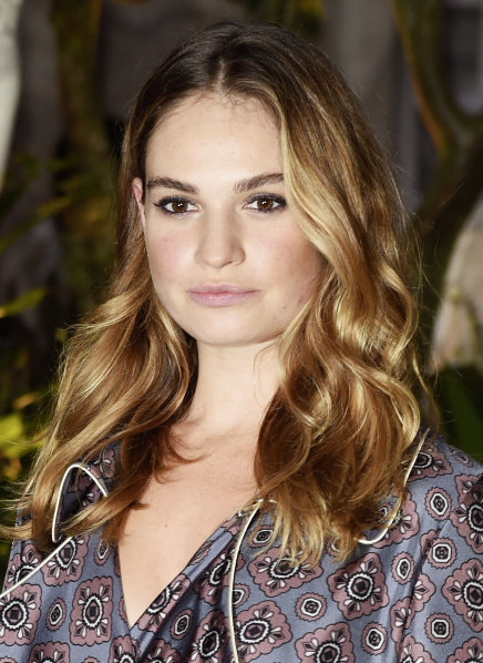 Lily James wearing Burberry Make-up.jpg