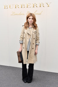 Clence Poy wearing Burberry at the Burberry Womenswear February 2016 Show.jpg