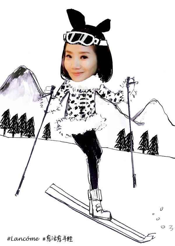 「駕馭速度,在銀色的大地上滑雪?」#蘭蔻 #愈活愈年輕.jpg