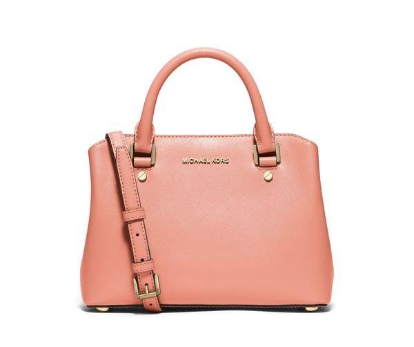Savannah 粉色十字紋牛皮兩用包(小)推薦價NT14,800.jpg