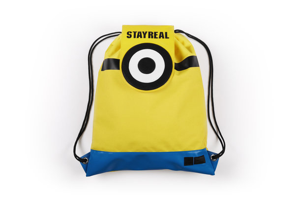STAYREAL X Minions小小兵抽繩包 $1480.jpg