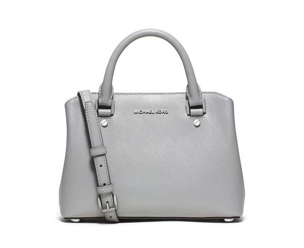 Savannah 暖灰色十字紋牛皮兩用包(小)推薦價NT14,800.jpg