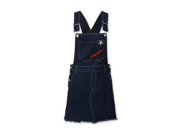 H CONNECT  SHARKEE刺繡丹寧吊帶裙 NT$1680.jpg