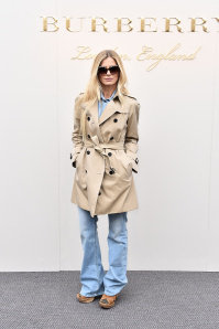 Laura Bailey wearing Burberry at the Burberry Womenswear February 2016 Show.jpg