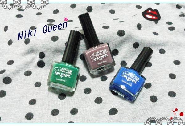 Q妮子///【邀稿】Miki Queen超飽和系列的指甲油~顏色出乎意料的飽和 >> 指甲換新色了 @@