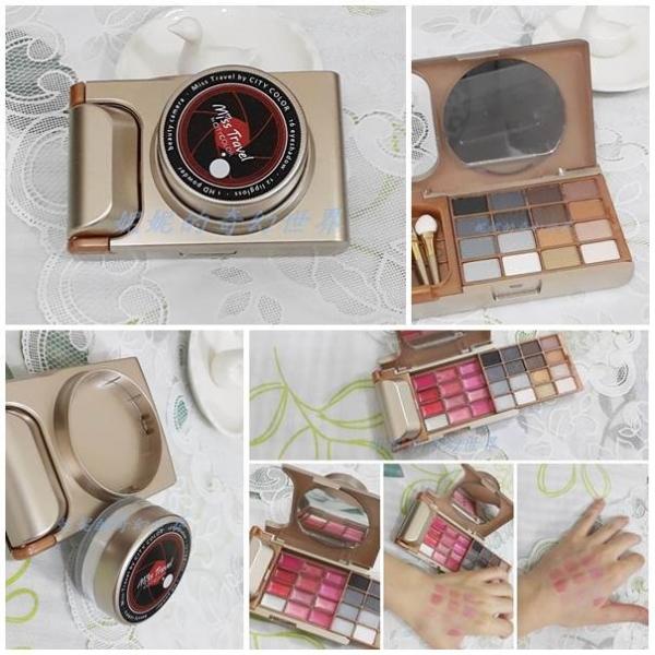 【彩妝】CITYCOLOR 愛旅行 玩美彩盤 眼影、口紅、蜜粉,實用又流行的彩盤禮盒 一盒搞定