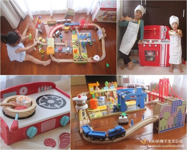 【優質木製玩具】男孩子的最愛~港灣城市鐵道(兒子超愛這組!!)、超跑紅經典廚房、桌上型可攜廚具組、兩用燒烤爐