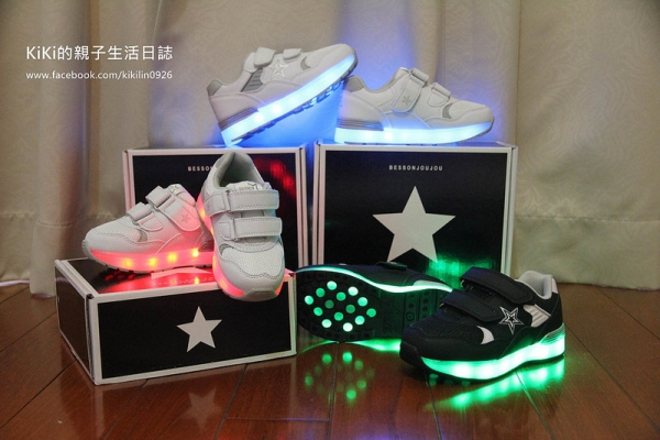【韓國BESSON JOUJOU】最酷炫時尚的LED發亮鞋!共11種閃亮色彩模式~