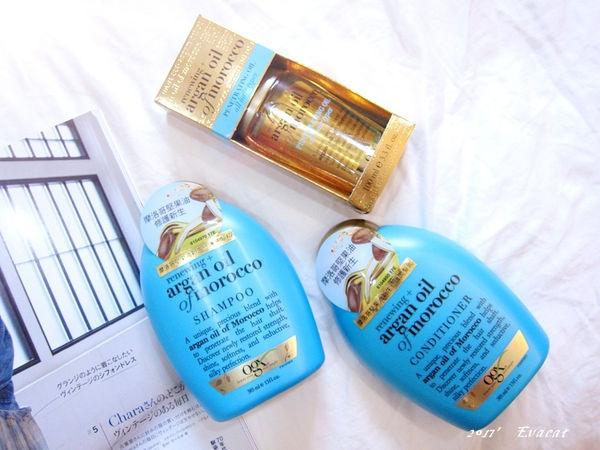 *髮品*讓毛躁髮尾變柔滑的上質髮。OGX摩洛哥堅果油新生修護系列