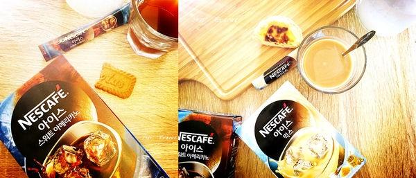*飲品*冰水沖泡的咖啡。Nescafe雀巢咖啡,雀巢三合一冰咖啡、雀巢美式冰咖啡。