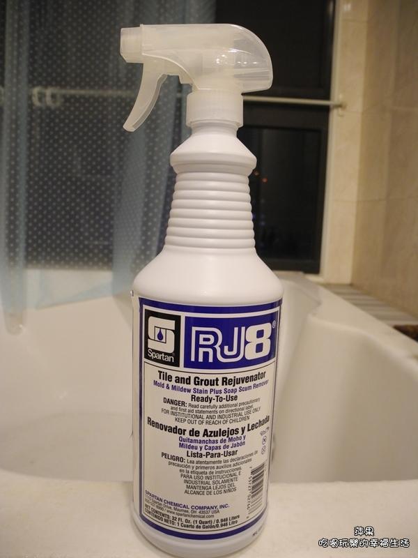 [體驗]浴室清潔一瓶搞定!!SPARTAN斯巴達RJ8環保配方強力抑黴除黴專家