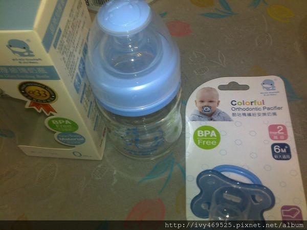 寶貝的安撫幫手~酷咕鴨晶亮加厚寬口玻璃奶瓶&繽紛安撫奶嘴
